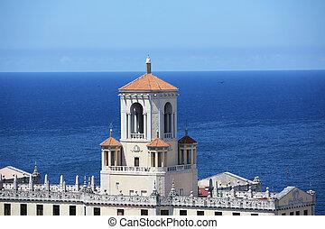the roof of the Hotel Nacional de Cuba, located in Vedado, Havana Cuba