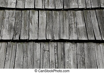 The roof of the old house