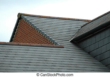 The roof - Roof top of modern flat in england