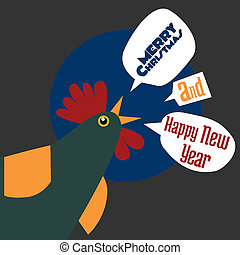 the rooster with new year