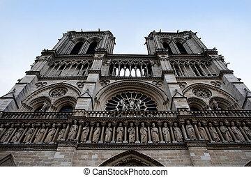 The rose window of Notre-Dame de Paris, France