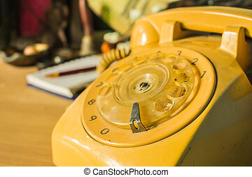 The rotary dial phone