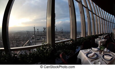 the rotating restaurant at the top of the world trade centre in mexico city