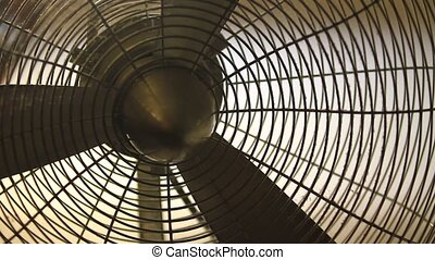 the rotation of the fan