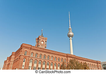 The Rotes Rathaus at Berlin, Germany - The Rotes Rathaus...