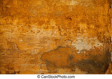 The rough surface of the rough stone yellow. Background in grunge style