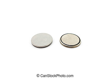 round battery on a white background