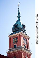 The royal castle. Zamek Krolewski. Warsaw, Poland.