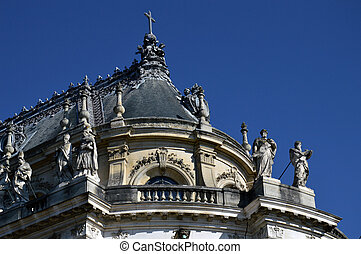The Royal Chapel in front of the Palace of Versailles, France