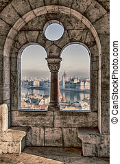 The magnificent view from the Royal Palace in Budapest