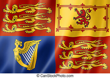 The Royal Standard flag of the UK
