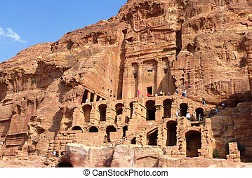 The Royal Tombs, Petra, Jordan - PETRA, JORDAN - NOVEMBER...