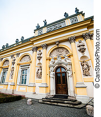 Wilanow Palace - The royal Wilanow Palace in Warsaw, Poland.