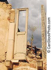 The rubble of the earthquake in Abruzzo