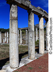 The ruins in ancient city of Messini, Greece