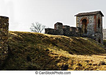 the ruins of a Roman camp in Romania