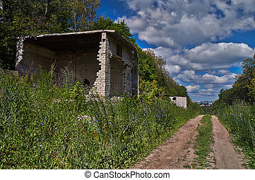 The ruins of abandoned building.