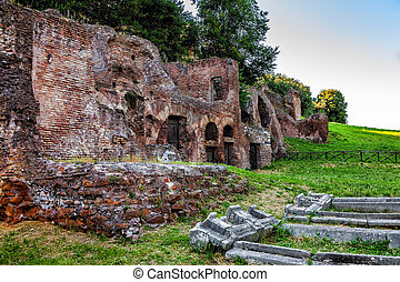 The ruins of ancient Rome.