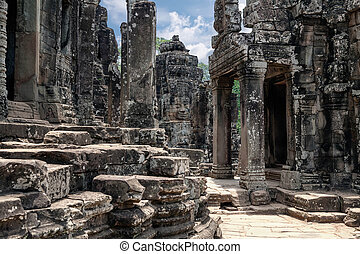 The ruins of Angkor Thom Temple in Cambodia