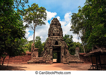 The ruins of Angkor Wat Temple in Cambodia