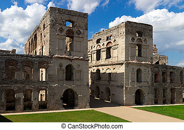 The Ruins of Krzyztopor Castle in Ujazd, southern Poland