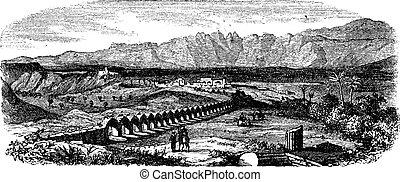 The Ruins of Laodicea, Turkey vintage engraving