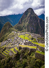 The ruins of Machu Picchu - The famous ruins of Machu Picchu...
