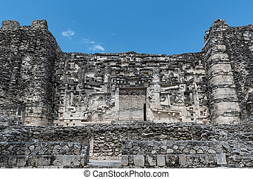 the ruins of the ancient mayan city of hormiguero, campeche, Mexico
