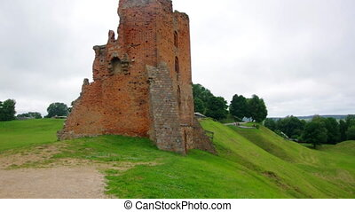 The ruins of the castle in the city of Novogrudok.