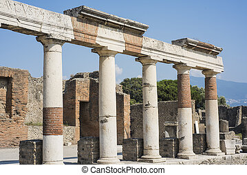 The ruins of the city of Pompeii. Italy. 2018.08