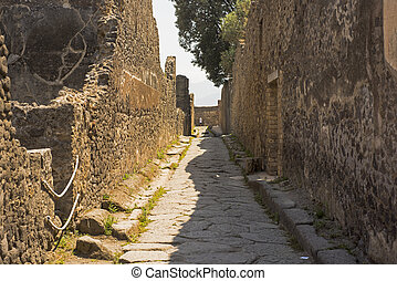 The ruins of the city of Pompeii. Italy