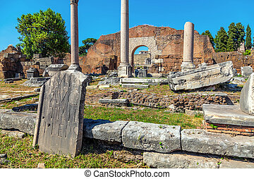 The ruins of the Roman Forum in Rome
