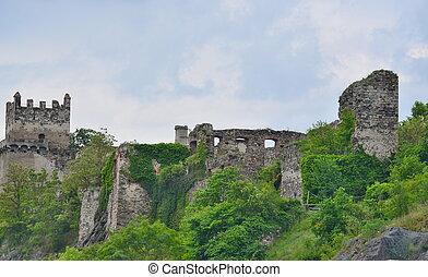 The ruins on the Danube river, Wachau region