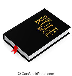The rule book image with hi-res rendered artwork that could be used for any graphic design.