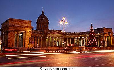 The Russian Federation, Saint Petersburg. Christmas tree at ...
