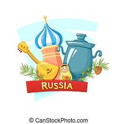 The Russian Federation, vector illustration - Symbols of the...