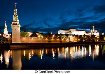 The Russian Moscow Kremlin in morning