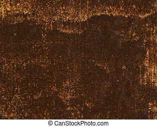 The rusty sheet of metal