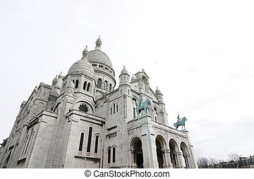 Sacre Coeur - The Sacre Coeur Basilica in Paris at the...