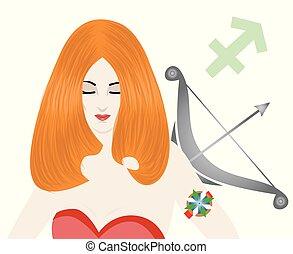 the sagittarius lady