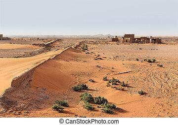 The Sahara desert.
