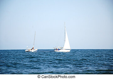 The sailboats