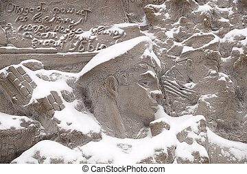 """The sailor on a bas-relief of """"Wall ruins"""""""