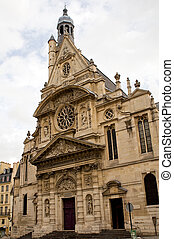 The Saint Etienne church in Paris