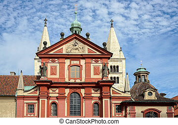 The Saint George's Basilica in the Castle area of Prague
