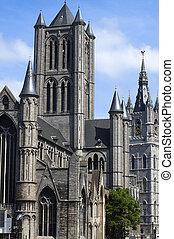 The Saint Nicholas church in Ghent