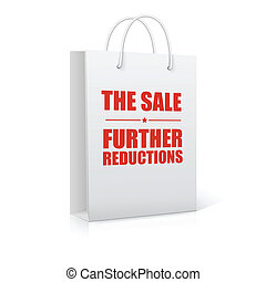 The sale further reductions, shopping bag, vector...