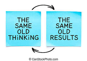 The Same Old Thinking The Same Old Results Quote