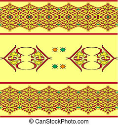 The sample of ornaments of different nations of the world, geometrical figures