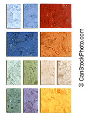 The samples of collection linoleum